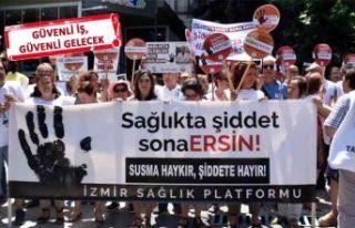 İzmir'de, sağlık çalışanlarına şiddet...