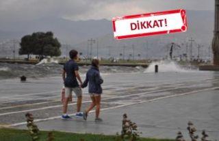 İzmir'e 'sağanak' uyarısı