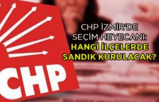 CHP İzmir'de seçim heyecanı: Hangi ilçelerde...