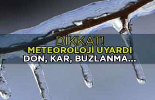 Meteoroloji bölge bölge uyardı: Kar, buzlanma ve...