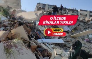 İzmir'de deprem bazı binalar yıkıldı