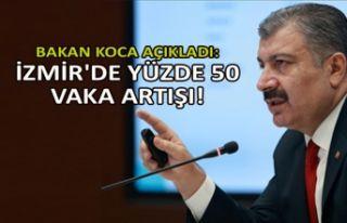 Bakan Koca açıkladı: İzmir'de yüzde 50 vaka...