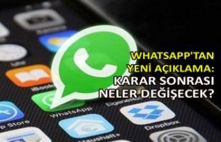 WhatsApp'tan yeni açıklama: Karar sonrası...