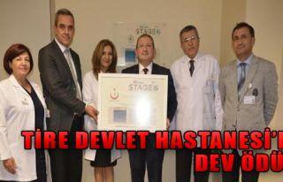 Tire Devlet Hastanesi'ne Dev Ödül!