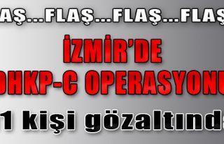 İzmir'te Terör Operasyonu Düzenlendi