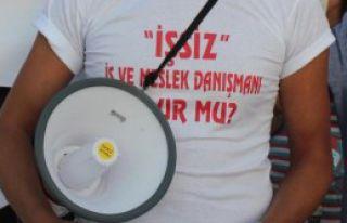 Atanmayan 'iş Ve Meslek Danışmanları' Eylem Yaptı