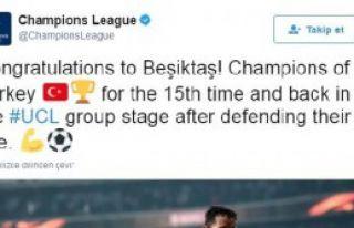 Şampiyonlar Ligi'nden Beşiktaş Paylaşımı