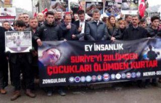 Zonguldak'ta İdlib Protestosu