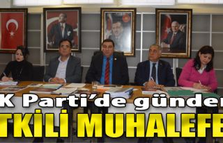 AK Parti'de Gündem Etkili Muhalefet