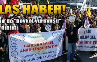 İzmir'de  'Boykot Yürüyüşü' Gerginliği