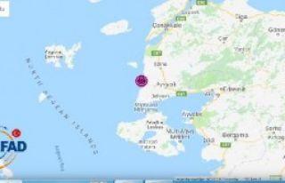 Ayvacık'ta 4 Büyüklüğünde Deprem