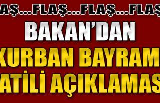 Bakan Zeybekci'den Kurban Bayramı Tatili Açıklaması