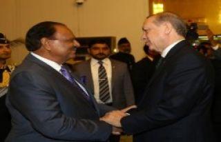 Erdoğan, Şerif'i Kabul Etti