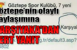 Göztepe'nin Olaylı Tweetine Karşıyaka'dan Sert...