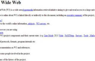 İnternetin İlk Sayfası