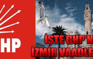 İşte CHP'nin İzmir Vaadleri