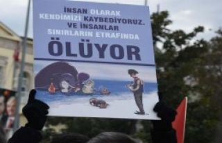 İzmir'de Halep Protestosu