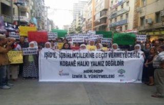 İzmir'de İşıd Saldırıları Protesto Edildi