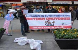 Karabük'te Obama Protestosu