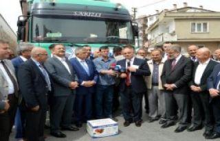 Kayseri'den Güvenlik Güçlerine 5 Tır Dolusu Elma