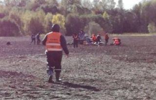 Letonya'da Helikopter Düştü