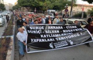 Mersin'de Silvan Protestosu