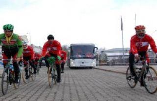 Milli Bisikletçiler Ardahan'a Ulaştı