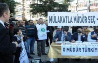 Müdür Atamalarına Skeçli Protesto