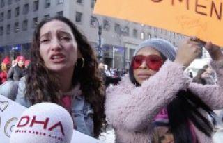 Onbinlerce Kadın Trump'ı Protesto Etti