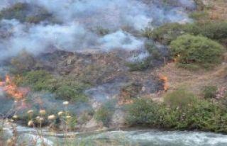 Otluk Alanda Başlayan Yangın Makilik Alana Sıçradı