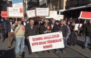 İstanbul'da Türkmenler İçin Protesto