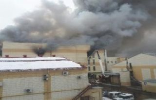 Rusya'da Avm yangını