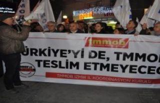 İzmir'de Torba Yasa Eylemi