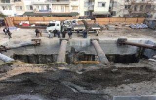 Tramvay Hattı Elektrik Trafosu İnşaatı Duvarları...