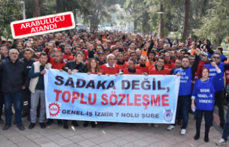 Bornova Belediyesi işçileri grev ilanı astı