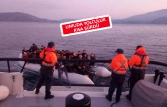 Çeşme'de kaçak göçmen operasyonu