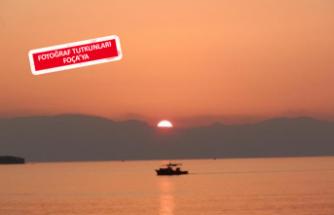 Foça'da eşsiz gün batımı manzarası