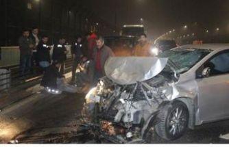 Haliç Köprüsü'nde art arda kaza!