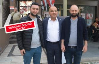 CHP'li Polat'tan esnaf ziyareti