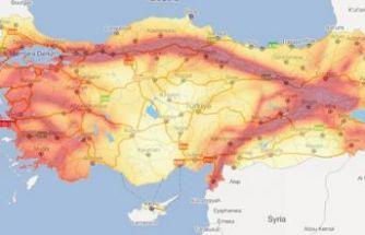 İşte Türkiye'nin yeni deprem haritası!