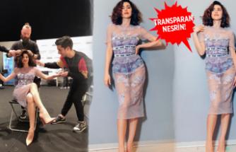 Nesrin Cavadzade transparan kıyafetiyle göz kamaştırdı!