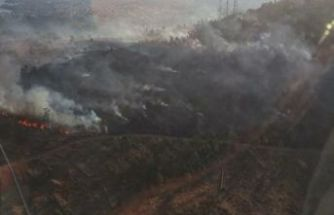 Bayraklı'da erozyon sahasında yangın!