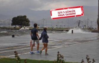 İzmir dikkat: Sağanak geliyor