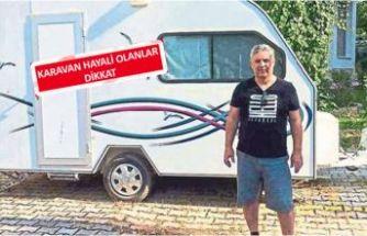 İzmir'in Narlıdere ilçesinde emekli astsubayın karavan hayali başına bela oldu!