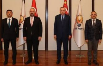 AK Partili Pehlivan'dan Cumhurbaşkanı Erdoğan'a ziyaret