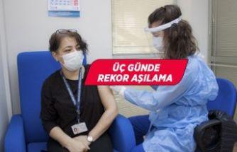 DEÜ'de sağlık çalışanları aşılandı