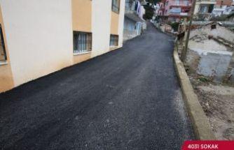 Efes Selçuk'ta bozulan yollar yeniden asfaltlanıyor