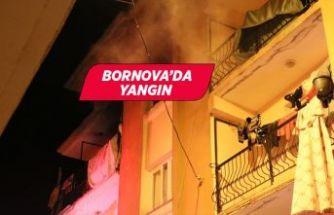 İzmir Bornova'da evde yangın çıktı!