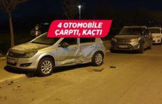 İzmir'de bir cipin sürücüsü, 4 otomobile çarptı!
