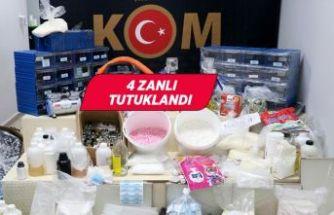 İzmir'de kaçak vücut geliştirme ilacı üretenlere operasyon